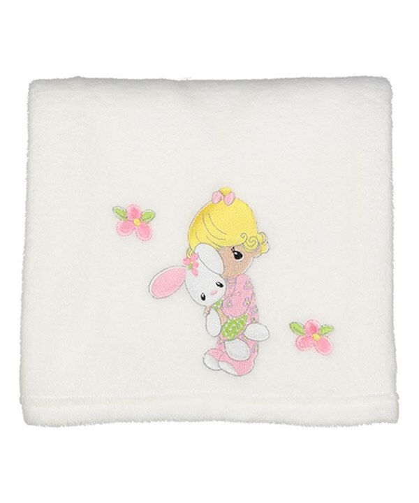 Look at this White Embroidered Bunny Baby Blanket on #zulily today!