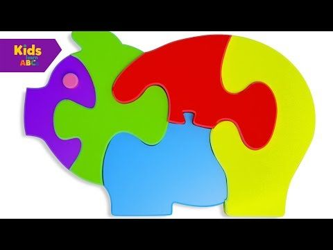 Learn Colors for Children with Wooden Pigs Toys Colour Balls 3D | Kidz Learn ABCs