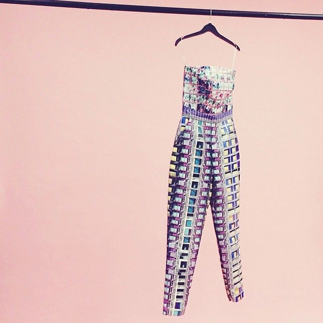 The Mary Katrantzou love affair continues. This jumpsuit is EVERYTHING  #love #print #preowned #positivity #lovefashion #instalove #style #summer #fashpack #ootd #tiw #fwis #marykatrantzou #graphic #vibrant #chic #colour #covetique #asos
