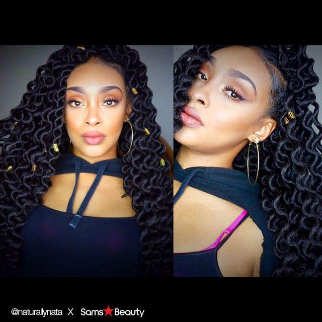 We know you want it ~ Hottest Goddess Dreadlocks!  Amour Synthetic Kanekalon Crochet Braids Natty Goddess Dreadlocks Deep Wavy by Chade Fashions!  #dreadloc #crochetbraids Credit to @naturallynata on Instagram  Available @ samsbeauty.com