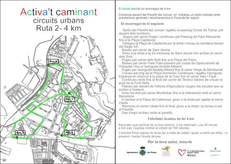#Tremp circuïts Urbans Activa't - circuït verd 4km