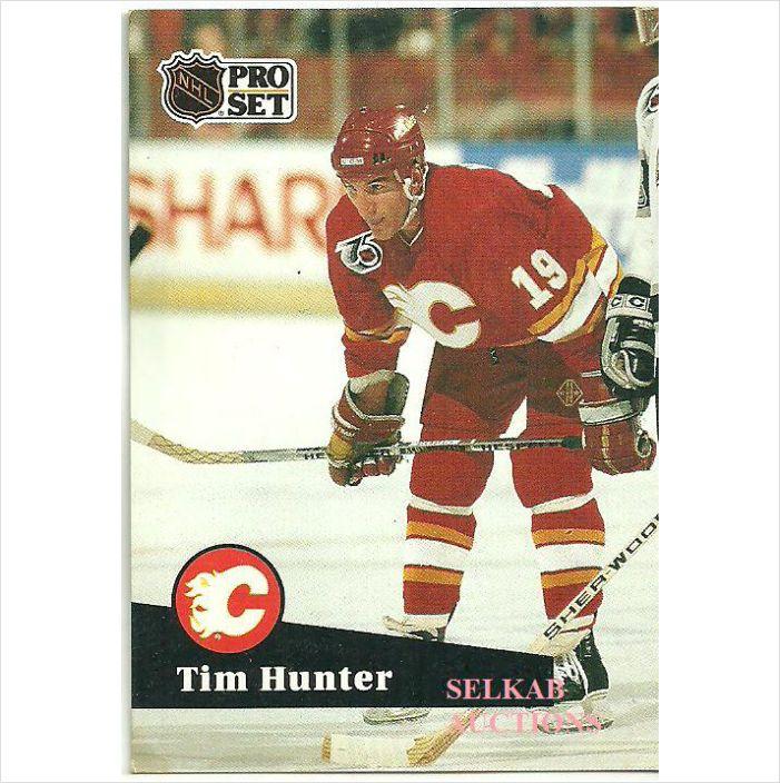 NHL Pro Set 1991 Hockey Trading Card #366 Tim Hunter Right Wing Calgary Flames on eBid Canada $1.00