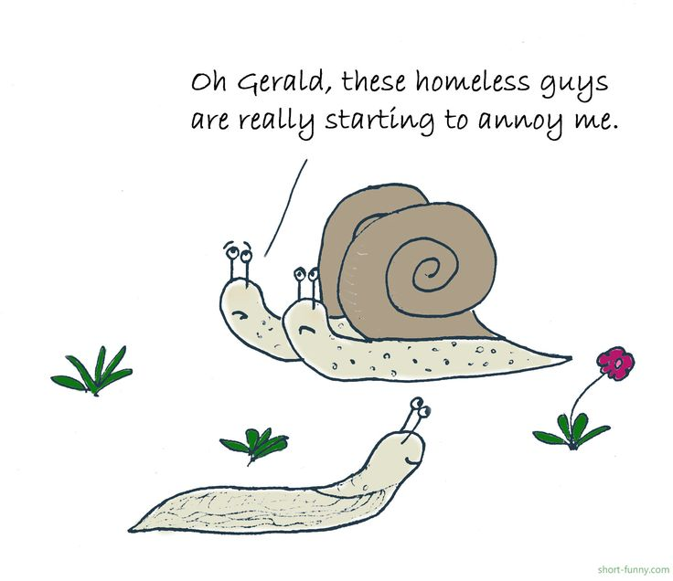 Funny joke cartoon from short-funny.com - Snail joke. Humor for kids.