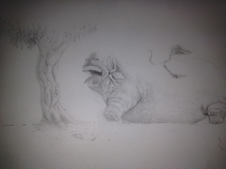 The Gruffasouras done entirely with pencil