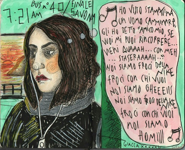 Comic illustration drawing by @distrofiamuscolare