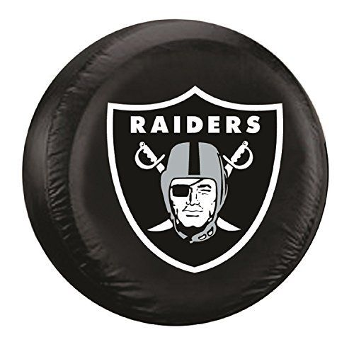 NFL Los Angeles Raiders Tire Cover, Standard, Black by JTD Enterprises. NFL Los Angeles Raiders Tire Cover, Standard, Black. Standard.