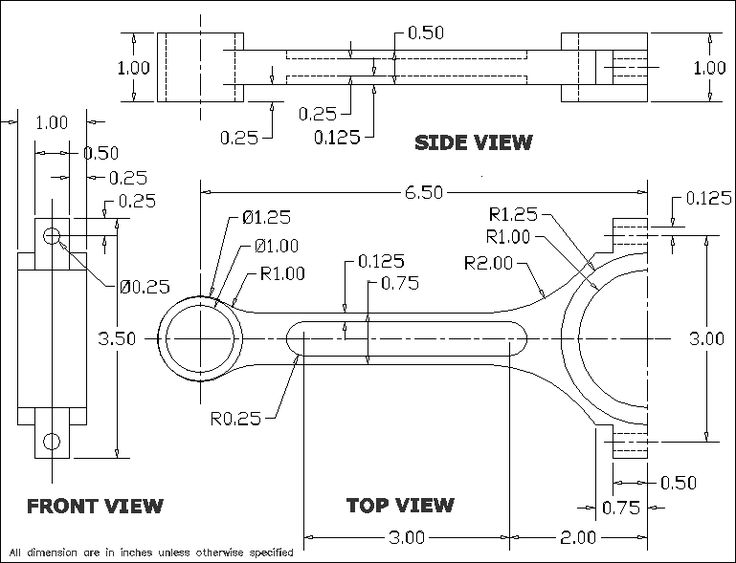 Pin on Mechanical drawings / Blueprints / CAD Drawings