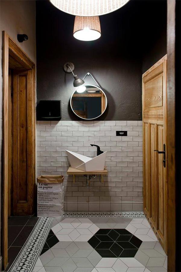 M s de 25 ideas incre bles sobre ba os en blanco y negro for Azulejo de piso de bano blanco y negro
