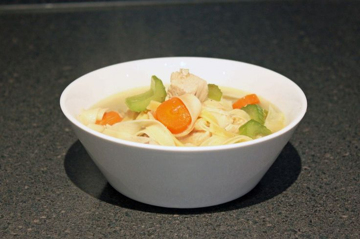 Simple Chicken Noodle Soup  Courtesy of your Everyday Home Cook