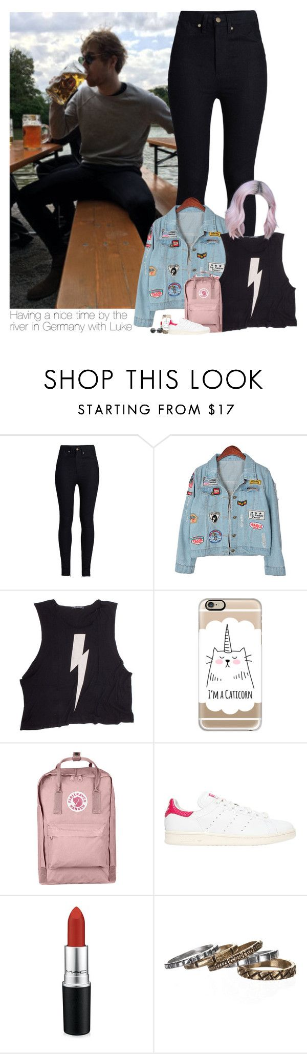 """""""Having a nice time by the river in Germany with Luke"""" by heslovely ❤ liked on Polyvore featuring Rodarte, Chicnova Fashion, Wildfox, Casetify, Fjällräven, adidas Originals, MAC Cosmetics and Waxing Poetic"""