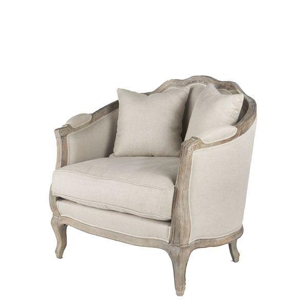 W2507 Linen European Furniture - Natural Linen Chair | $678.97