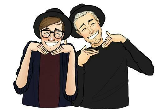 Feb.2.2015 is Fall out boy's 3rd year anniversary back.So,for Fall out boy day I'm going to make a Fall out boy collage.To celebrate their 3rd year anniversary.Note:Patrick and Pete are so cute in this drawing!!!!