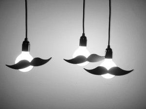 Moustachioed lightbulbs!
