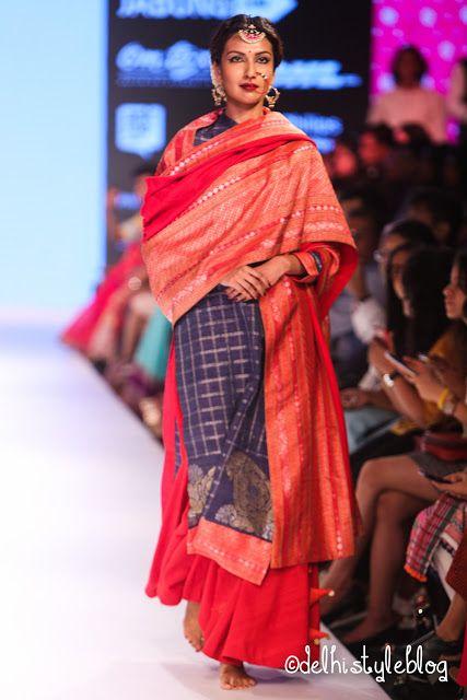 Gaurang Shah LFW AW15 Samyukta Varanasi handloom