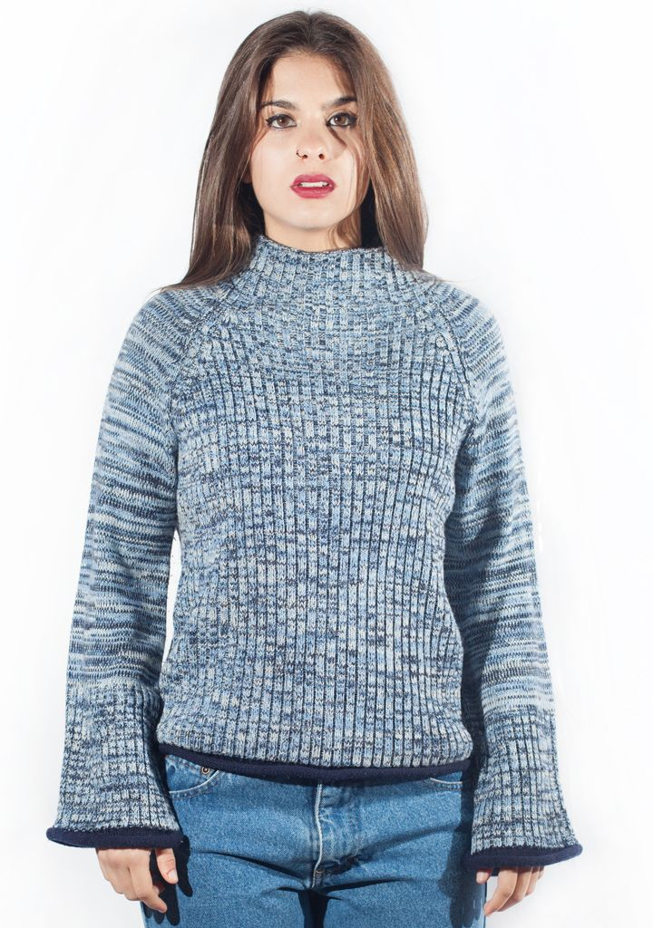 Vintage degradade sweater in blue. http://marlet-shop.com/collections/tops/products/vintage-sweater