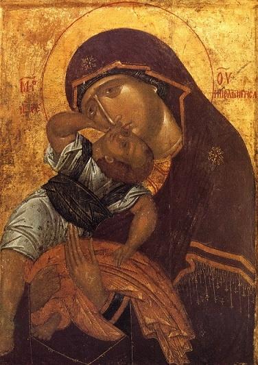 Icono griego del siglo XIV.