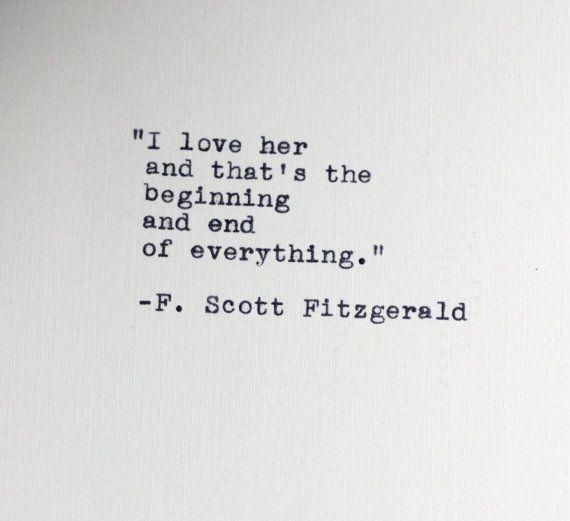 F. Scott Fitzgerald quote.