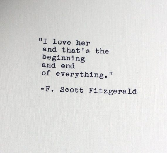 Fitzgerald Quotes: F. SCOTT FITZGERALD Quote Typed On A Vintage Typewriter