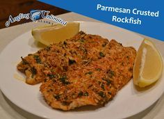 Only six ingredients are required to make this delicious Parmesan Crusted Rockfish recipe!