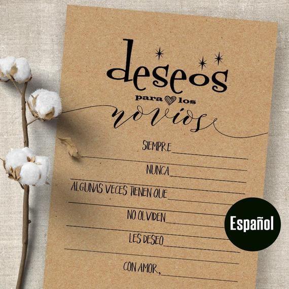 Bridal shower game in Spanish, juegos para despedida de soltera, party games, G340