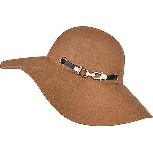 Chapeau mou beige à galon noir - Chapeaux - Accessoires - femme