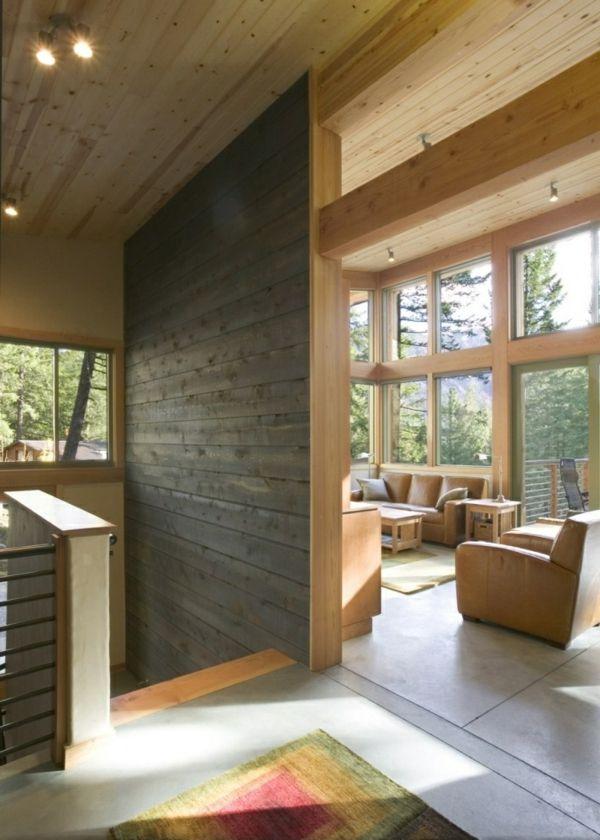 große fenster für eine gemütliche wohnung ausstattung - Schaffen Sie eine gemütliche Atmosphäre im Zimmer – Holzwand Ideen