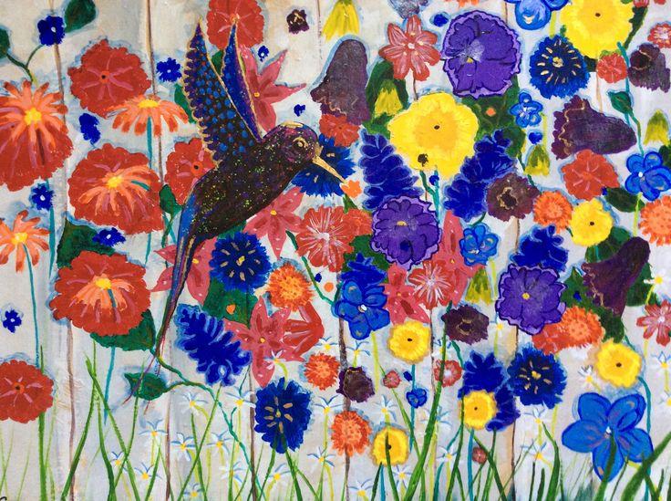 Blue Bird of Happiness ( Acrylic )