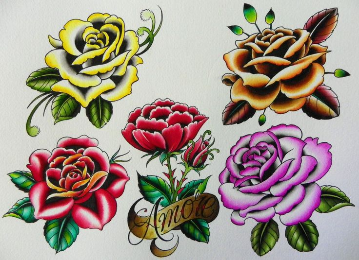 Traditional Rose Tattoo | New flash inspired by the beauty at the EuroFlora exhibition
