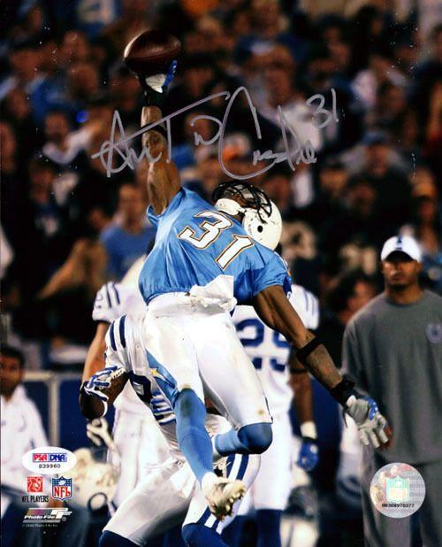 Antonio Cromartie Autographed 8x10 Photo San Diego Chargers PSA/DNA Stock #27748