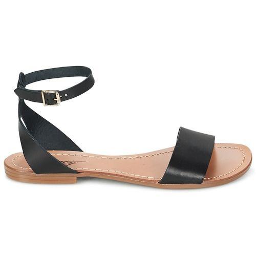 Dit model is een toploper deze zomer bij het merk Betty London en dat begrijpen wij! Deze zwarte sandaal heeft het allemaal. Een leren schacht en een buitenzool van synthetisch materiaal: dat mag je van dit model verwachten. Dankzij de leren binnenvoering en leren binnenzool loopt deze schoen comfortabel. Met deze sandalen aan je voeten kan de zon alleen maar schitteren! - Kleur : Zwart - Schoenen Dames € 41,99