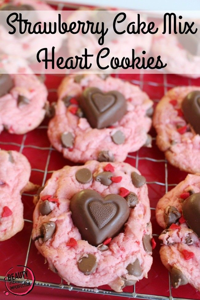 Strawberry cake mix recipes cookies