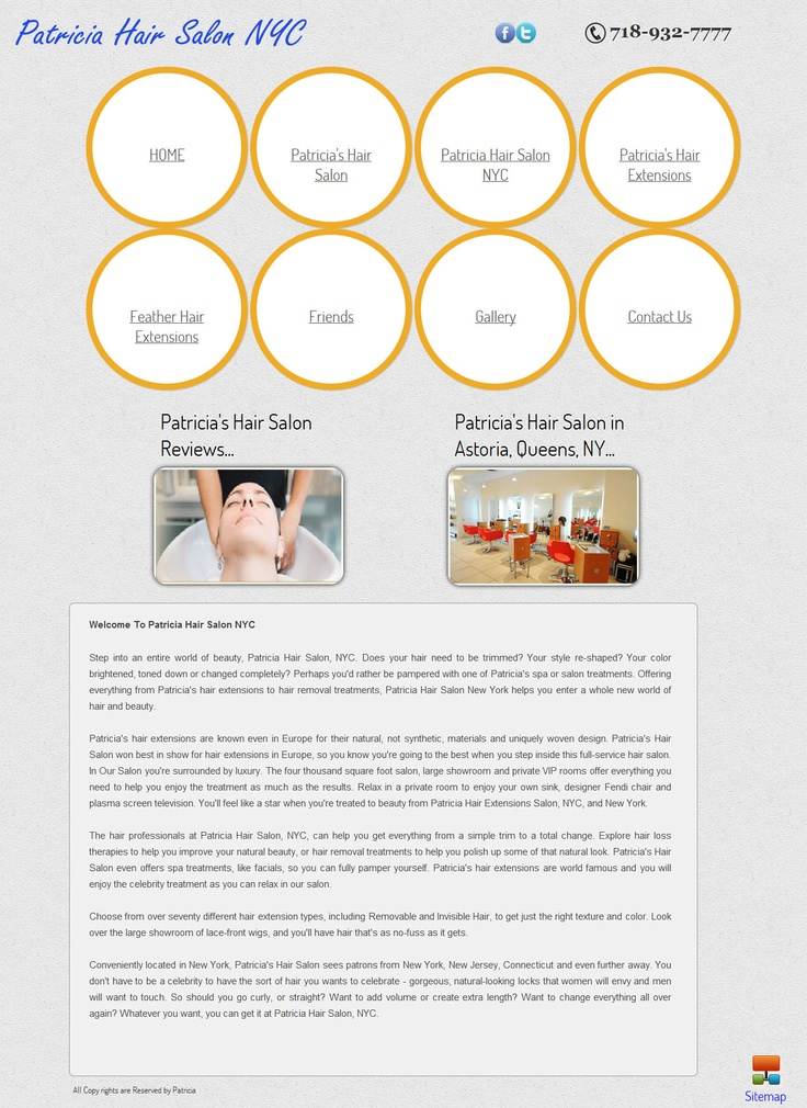 An HTML 4 template design for Patricia Hair Salon at New York  http://www.patriciahairsalonnyc.com/
