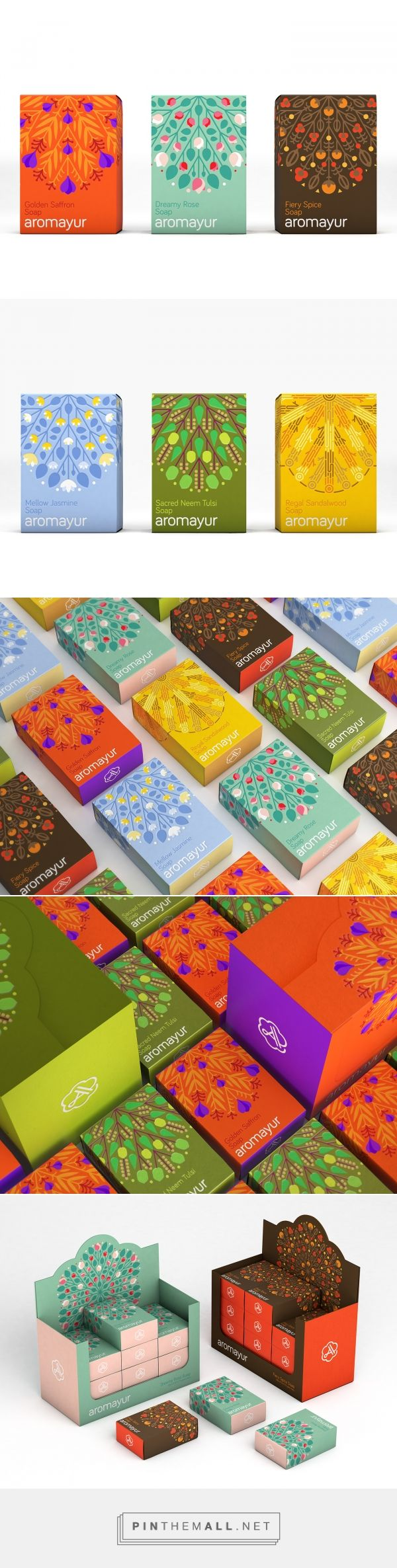 Aromayur / natural products / soap design by Zooscope