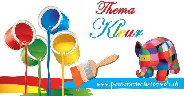 """Het thema kleur bestaat uit het themaboek kleur, speel-en oefenboek is de """"is de zon groen?"""" en woordkaarten met handleiding. Ook Elmer de olifant brengt een bezoekje aan dit thema. www.peuteractiviteitenweb.nl"""