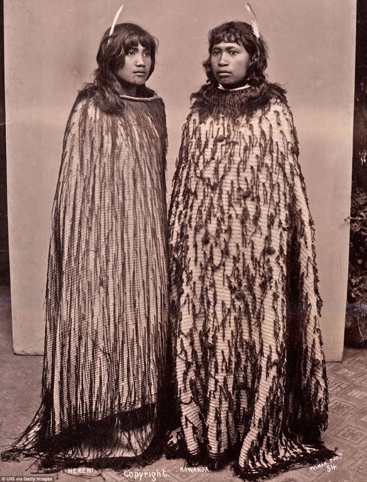The Maori girls Hereni and Rowanga pictured in 1889. Several of the historic 19th-century photos taken by Pulman have now been sold at auction in Shropshire this week