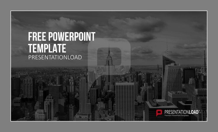 Skyline images as a vivid background for your presentation. #freetemplates