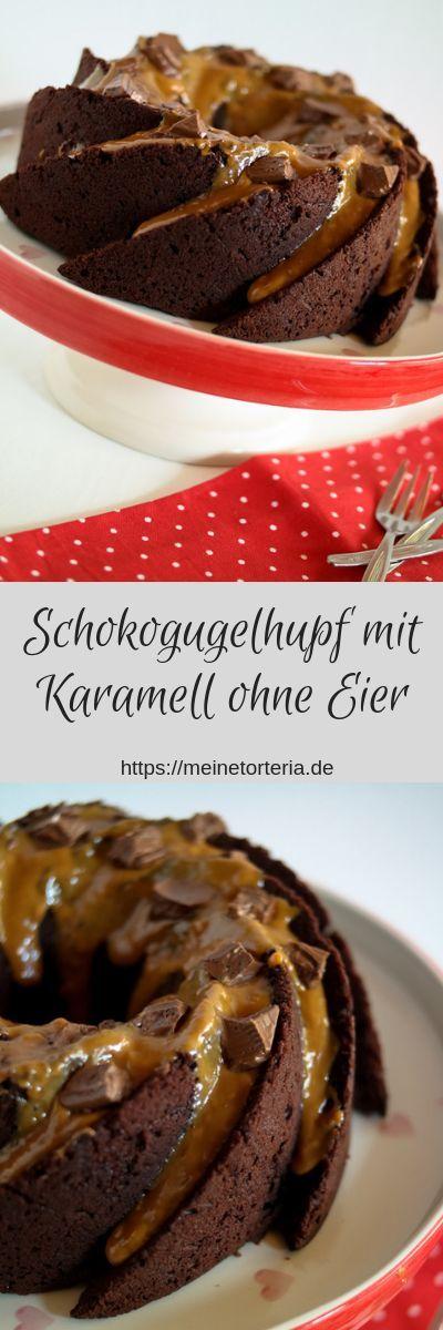 Schokoladenballkuchen mit Karamell – Backen ohne Ei
