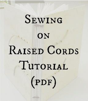 Sewing on Raised Cords Tutorial (pdf)