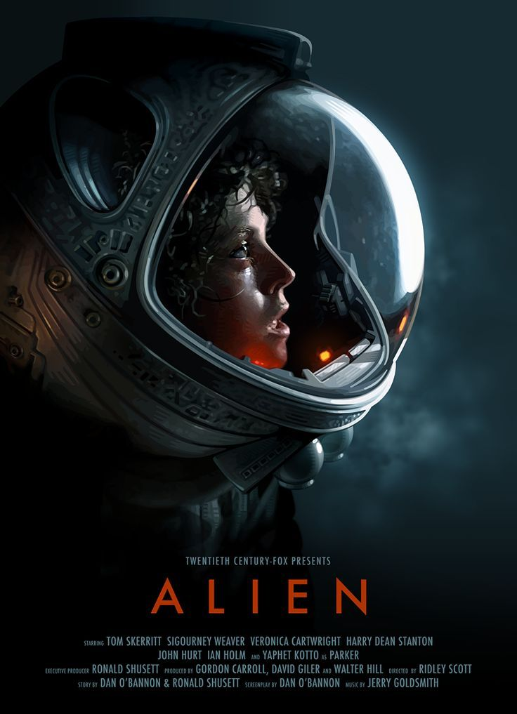 This poster is detailed showing the sci-fi nature of the film as well as a dark theme to represent the thriller setting.