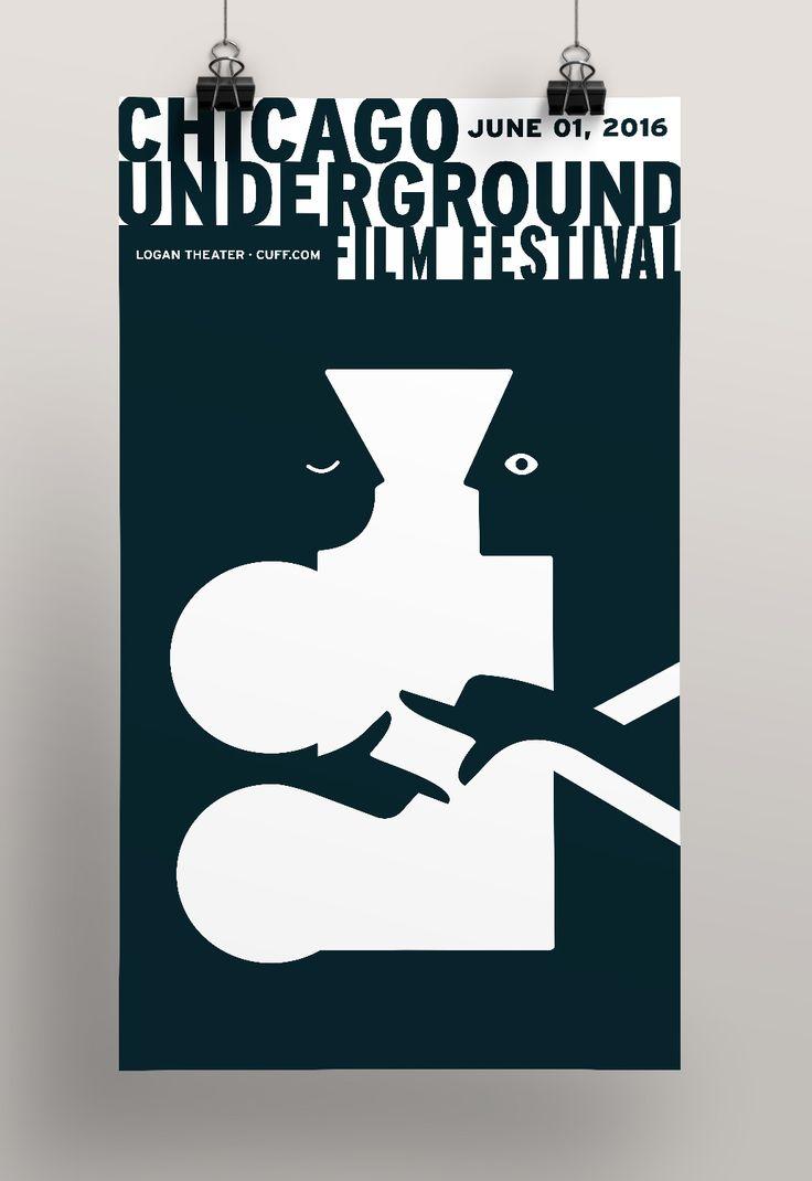 Chicago Underground Film Festival Poster on Behance