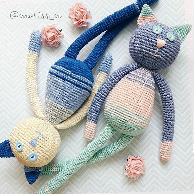 Вязаные игрушкикоты moriss_n | WEBSTA - Instagram Analytics