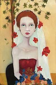 She Wanted Fame, Fortune and Flowers, Too - Cassandra Christensen Barney - World-Wide-Art.com - $395.00 #CassandraBarney