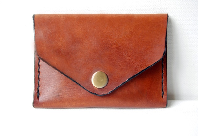 Cognac Leather Pocket Wallet.