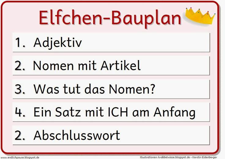 """Endlich Pause 2.0: Bauplan """"Elfchen"""""""