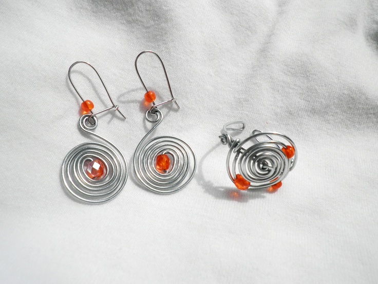 bubu's wire ring and earrings