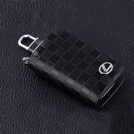 Black Genuine Leather Car Remote Key Chain Holder Case Bag Fit For Lexus Auto As Picture Other China