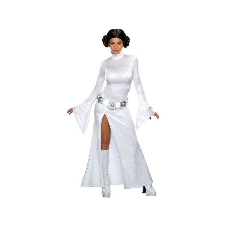 Star Wars Princess Leia Costume - Adult, Size: Small, White