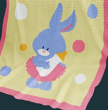 Crochet Pattern | Baby Blanket /Afghan - Bunny Girl