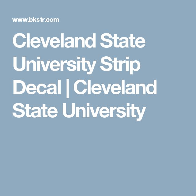 Cleveland State University Strip Decal | Cleveland State University