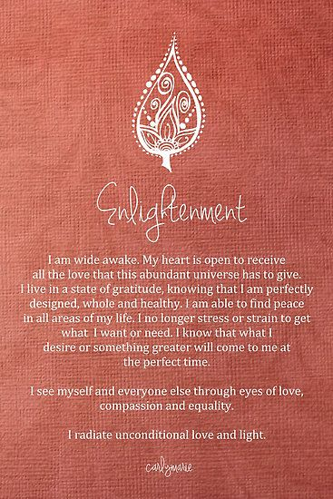 Affirmation - Enlightenment by CarlyMarie